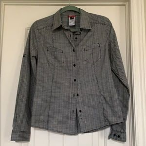 North face button up shirt